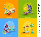 scientific disciplines colorful ... | Shutterstock .eps vector #415397350