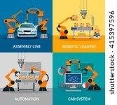automation concept icons set... | Shutterstock .eps vector #415397596