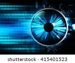 blue abstract hi speed internet ... | Shutterstock . vector #415401523