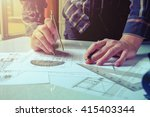 close up man working of... | Shutterstock . vector #415403344
