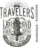 travelers motorcycle legend ... | Shutterstock .eps vector #415405444