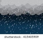 heavy rain in dark sky  vector... | Shutterstock .eps vector #415405909