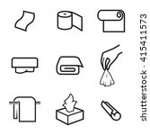 towels and napkins icons | Shutterstock .eps vector #415411573