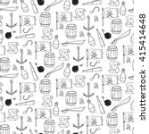 seamless pattern with pirate... | Shutterstock .eps vector #415414648