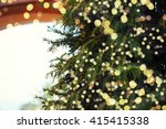 closeup of christmas tree | Shutterstock . vector #415415338