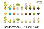 house indoors plants and... | Shutterstock .eps vector #415417534