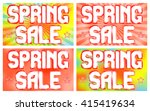 spring sale banners set on a... | Shutterstock .eps vector #415419634