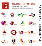 abstract geometric business... | Shutterstock .eps vector #415420366