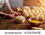 women bake pies. confectioners... | Shutterstock . vector #415420438
