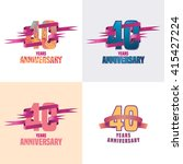 40 years anniversary vector... | Shutterstock .eps vector #415427224