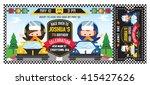 a vector illustration kids in... | Shutterstock .eps vector #415427626