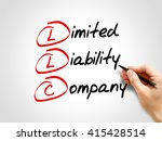 llc   limited liability company ... | Shutterstock . vector #415428514
