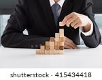 closeup of businessman making a ... | Shutterstock . vector #415434418