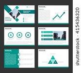 green presentation templates... | Shutterstock .eps vector #415436320