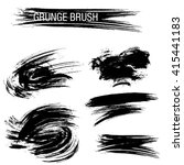 vector set of grunge brush... | Shutterstock .eps vector #415441183