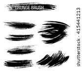vector set of grunge brush... | Shutterstock .eps vector #415441213