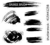 vector set of grunge brush... | Shutterstock .eps vector #415441258