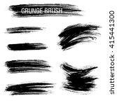 vector set of grunge brush... | Shutterstock .eps vector #415441300