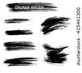 vector set of grunge brush... | Shutterstock .eps vector #415441300