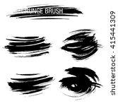 vector set of grunge brush... | Shutterstock .eps vector #415441309