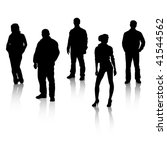 black silhouettes of people... | Shutterstock .eps vector #41544562