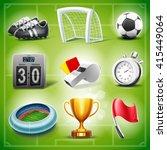 icons for soccer | Shutterstock .eps vector #415449064