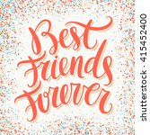 best friends forever. | Shutterstock .eps vector #415452400