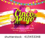 poster or party flyer of cinco... | Shutterstock .eps vector #415453348