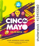 poster or party flyer of cinco... | Shutterstock .eps vector #415453360