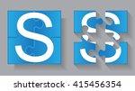 puzzle letter s.vector puzzle... | Shutterstock .eps vector #415456354