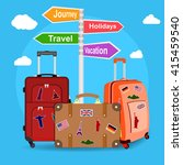 picture of travel bags and... | Shutterstock .eps vector #415459540