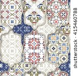 seamless patchwork pattern from ... | Shutterstock .eps vector #415460788