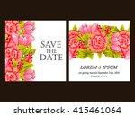 vintage delicate invitation... | Shutterstock . vector #415461064