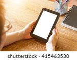 business man using tablet... | Shutterstock . vector #415463530