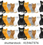 cats in a cartoon style.... | Shutterstock .eps vector #415467376