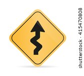 winding  road sign on a white... | Shutterstock .eps vector #415470808