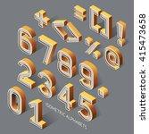 isometric alphabets. vector... | Shutterstock .eps vector #415473658