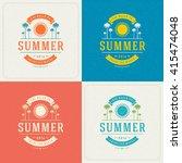 summer holidays retro... | Shutterstock .eps vector #415474048