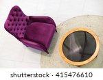 pink sofa from topview | Shutterstock . vector #415476610