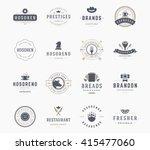 vintage logos design templates... | Shutterstock .eps vector #415477060