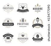 vintage logos design templates... | Shutterstock .eps vector #415477090