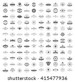 Stock vector vintage logos design templates set vector logotypes elements collection icons symbols retro 415477936