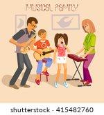 illustration of happy familly... | Shutterstock .eps vector #415482760