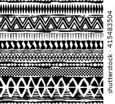 abstract black and white tribal ... | Shutterstock .eps vector #415483504