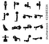 ball exercising fitness and...   Shutterstock .eps vector #415485334