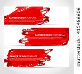 banners. set of trendy red... | Shutterstock .eps vector #415486606