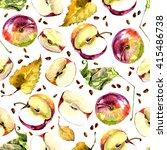 Apple Pattern With Autumn...