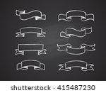 hand drawn retro scribble... | Shutterstock . vector #415487230