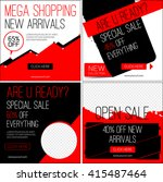 sale instagram banners. black... | Shutterstock .eps vector #415487464