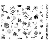 seamless pattern  black and... | Shutterstock .eps vector #415490590